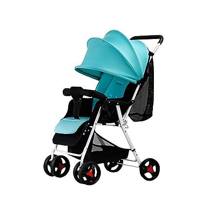 Cochecito De Bebé Sentado Reclinable Ultra-Ligero Plegable Portátil De Dos Vías Amortiguador De Cuatro