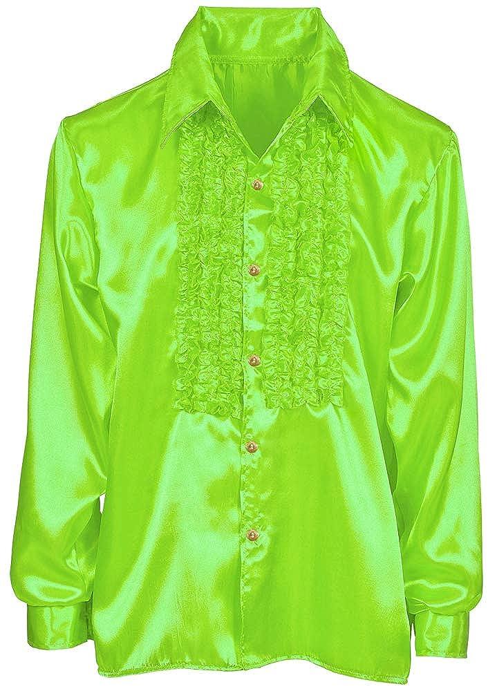 Das Kost/ümland Satin R/üschenhemd Johnny f/ür Kinder Tolle gl/änzende Hemden mit R/üschen im Stil der 70er 80er Jahre f/ür Jungen und M/ädchen