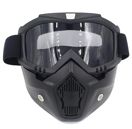 QQBL Motocicleta Casco Montar Fuera De Carretera Equipo Al Aire Libre Harley -Davidson Gafas Máscara Retro PE Placa Lente Mascara Gafas Hombre Y Mujer ...