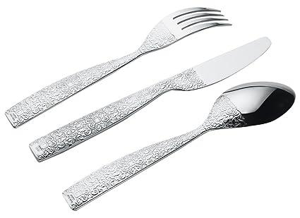 Alessi Juego de 4 cucharas 18/10, Color Plata, Acero Inoxidable, Acabado