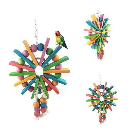 Catkoo Accesorios para pájaros, decoración de Jaula de Juguete ...