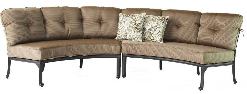 Attractive Amazon.com : Cast Aluminum Curved Outdoor Sofa Elisabeth 2 Piece Patio Set  Desert Bronze : Garden U0026 Outdoor