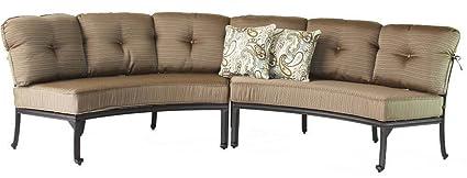Amazon.com: Sofá para exteriores curvo de aluminio ...
