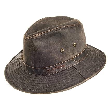 e57446d8b4ed60 Stetson Hats Crushable Washed Cotton Safari SMALL Brown: Amazon.co.uk:  Clothing