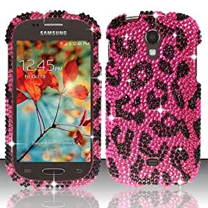 Pink Leopard Bling Gem Jewel Crystal Cover for Samsung Galaxy Light T399 QDP49