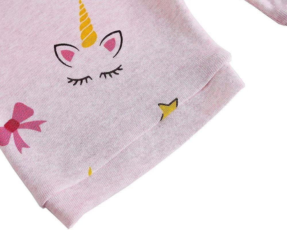 ARTMINE Girls Cartoon Shorts Sleeve Pajamas Set
