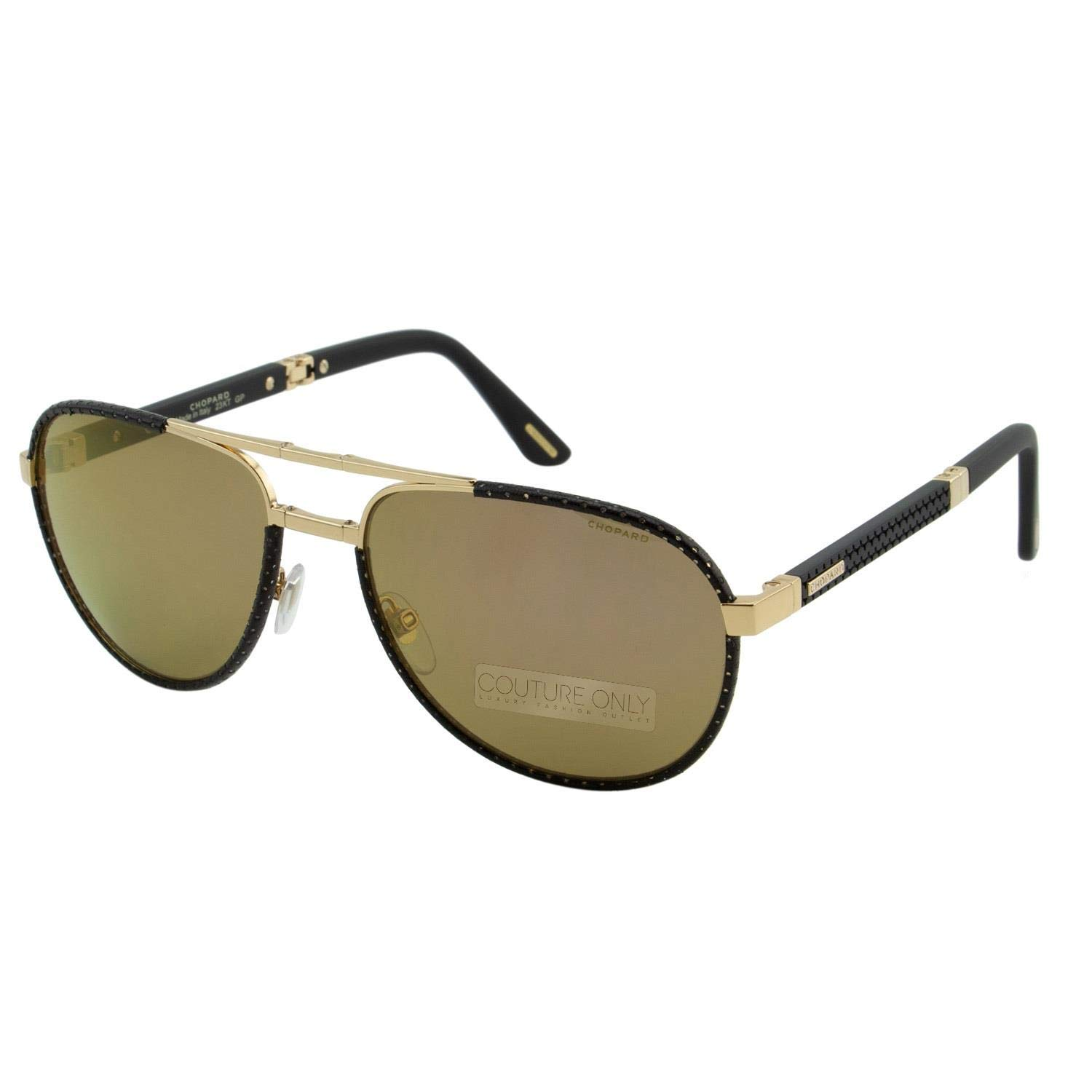 Chopard Mille Miglia LIMITED EDITION Superfast SCH B81V 300P Men Black & Gold Aviator Sunglasses Polarized