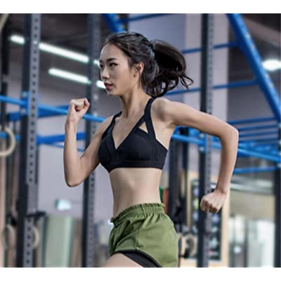 LUCKY-U Femme Sports Bra Traverser Support arrière Courir Sports Bra Le jogging Faire des exercices Vêtements de yoga Femme Bra Aptitude