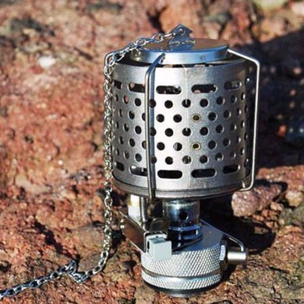 l/ámpara de Gas port/átil con Colgante Chimenea Seasaleshop 80 Lux Mini l/ámpara de Farol de Camping Banco de la energ/ía de Emergencia l/ámpara para al Aire Libre Pesca
