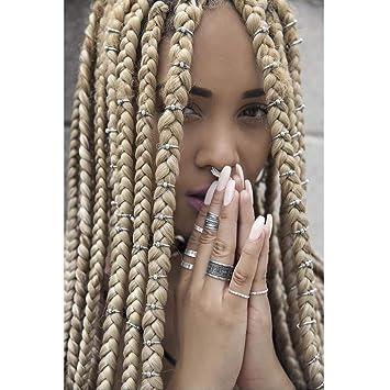 Yean Womens Hair Charms Hair Braid Rings     - Amazon com