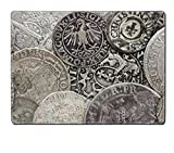 MSD Placemat IMAGE 29875993 Closeup view of medieval European silver coins Suitable for an abstract background