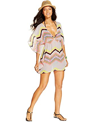 7620049ec5 Miken Keyhole Back Poncho Cover Up at Amazon Women s Clothing store