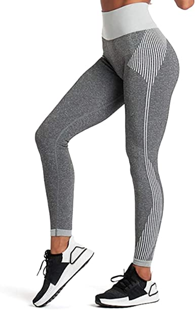Aoxjox Womens Workout Seamless Leggings High Waised Flex Gym Sport Yoga Pants Tights