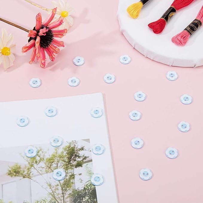 rosa 13/x 2/MM rosa Arricraft 100pcs piatto rotondo con fiore due fori bottoni resina cucire bottoni tinti resina pulsante per costume design e artigianato fai da te