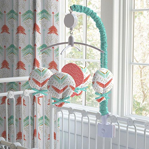 Carousel Designs Coral and Teal Arrow Mobile by Carousel Designs
