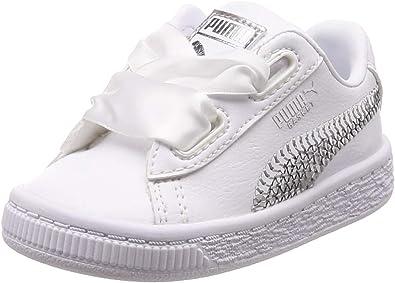 Puma Basket Heart BlingChaussures Fille Blanc 36684902 (26 EU)