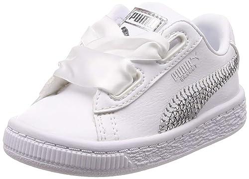 Puma Basket Heart Bling Zapatos para Niña Blanco 36684902