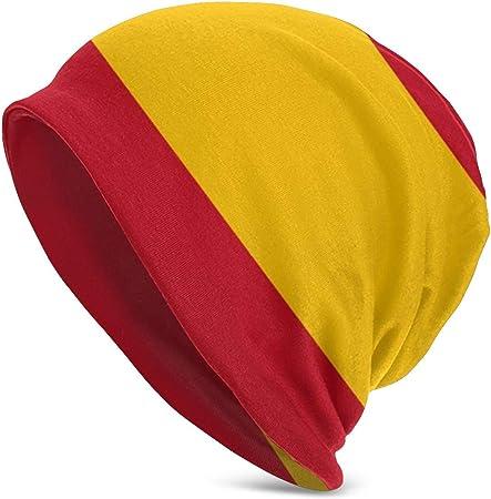 NUBOMINI - Gorro para Hombre y Mujer, diseño de Bandera de España, Negro, Talla única: Amazon.es: Hogar