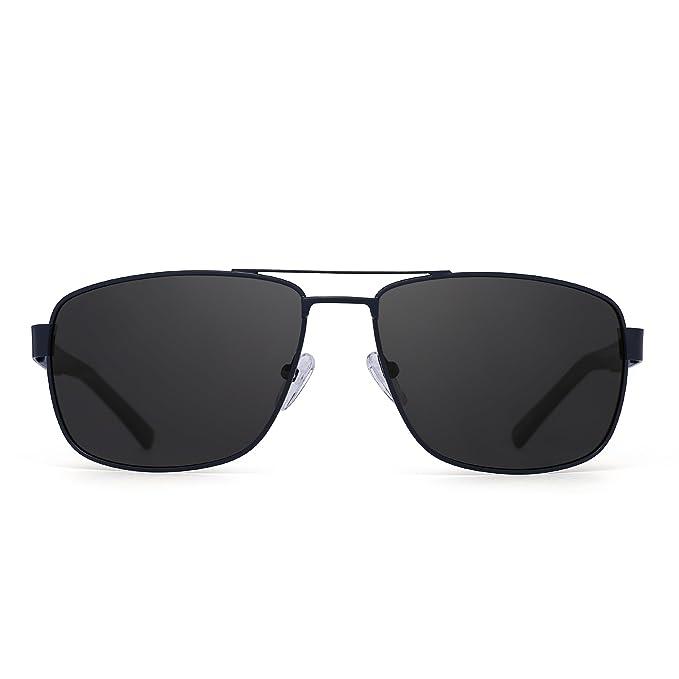 Jim Halo Gafas de Sol Aviador Polarizadas Conducir Marco de Metal Lentes Cuadrados Anteojos Hombre Mujer