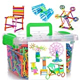 WOWsweet-1000 Pieces Construction Toys Building Blocks Construction Playboards, Creativity Beyond Imagination, Inspirational and Educational in One Storage Box with Instruction Guide Inside