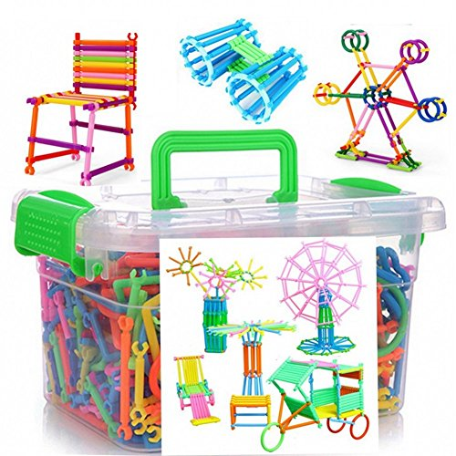 WOWsweet-1000 Pieces Construction Toys Building Blocks Construction Playboards, Creativity Beyond Imagination, Inspirational and Educational in One Storage Box with Instruction Guide Inside by WOWsweet