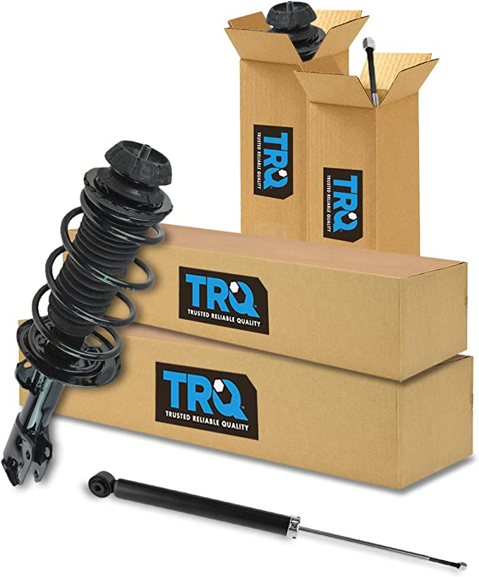2 Rear Shocks Full Set Fits TOYOTA YARIS 2 Front Complete Struts With Springs