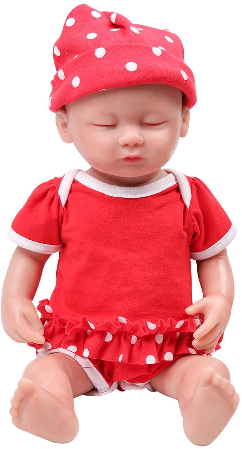 Girl 15 inch IVITA Reborn Baby Doll Full Body Silicone Realistic Sleeping Real Newborn Baby Doll Baby Doll Girl for Kids Doll Collection