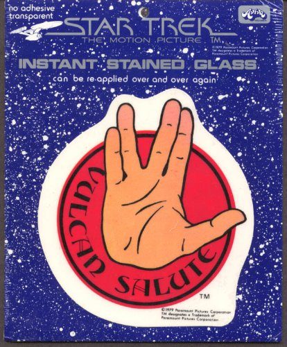 Star Trek Motion Picture Vulcan Salute stained glass