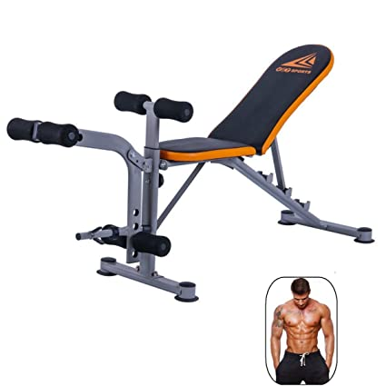 Wowcool Durable Adjustable Weight Bench Abs Workout Gym Press Fitness Trainer Dumbbells Lifting Incline Multi