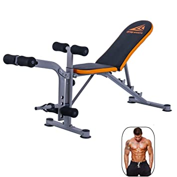 wowcool Durable ajustable banco de musculación Abs entrenamiento gimnasio prensa Fitness Trainer, pesas levantamiento inclinación Multi-Workout ...