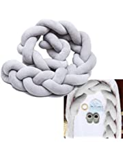 "Baby Crib Bumpers Braids Protective Snake Pillow Home Decoration 39"" 59"" 79"" (200cm, Grey)"