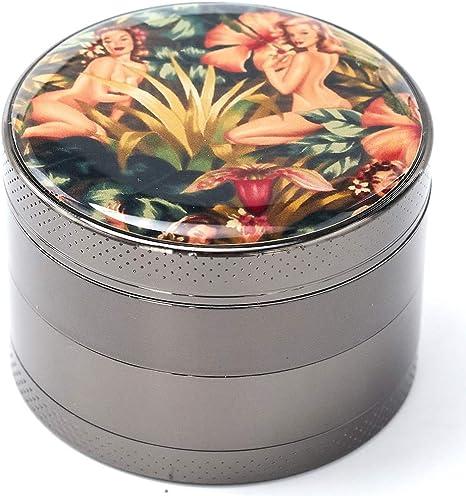 Grinder Titanium Premium Herb Grinder 2.2 Wide Jungle Girl Black