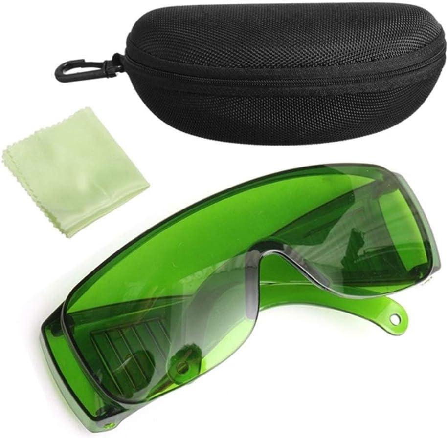 YUELANG Verde 200-2000NM Protección contra La Luz Láser Gafas De Seguridad Gafas con Caja Seguridad En El Lugar De Trabajo