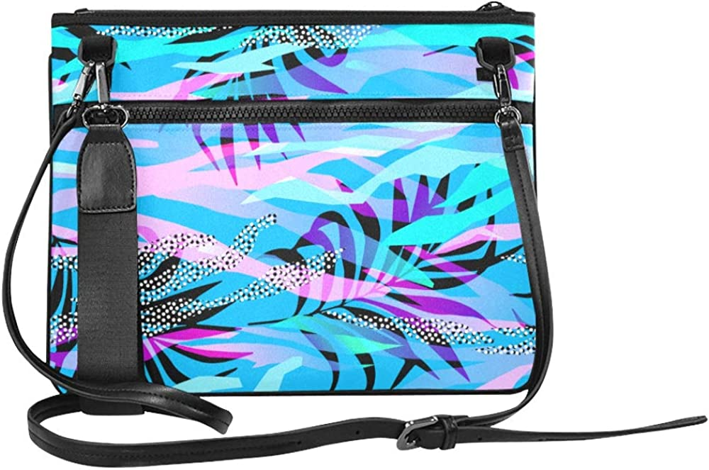 Fashion Crossbody Bag Retro Stylish Colored Summer Tree Leaf Adjustable Shoulder Strap Travel Bag Clutch For Women Girls Ladies Crossbody Tote Bags Fun Clutch Bags