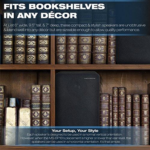 Mediabridge Bookshelf Speakers Pair With 4-Inch Carbon Fiber Woofer & 1-Inch Silk Dome Tweeter - Black Enclosure (Part# MS-BP1B) by Mediabridge (Image #3)