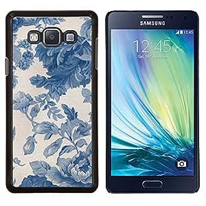 Stuss Case / Funda Carcasa protectora - Viñeta azul porcelana Wallpaper - Samsung Galaxy A7 ( A7000 )