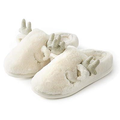 OKSOO Women's Slippers Memory Foam Fuzzy Slippers Indoor & Outdoor Winter Warm Anti-Skid Rubber Sole House Shoes | Slippers