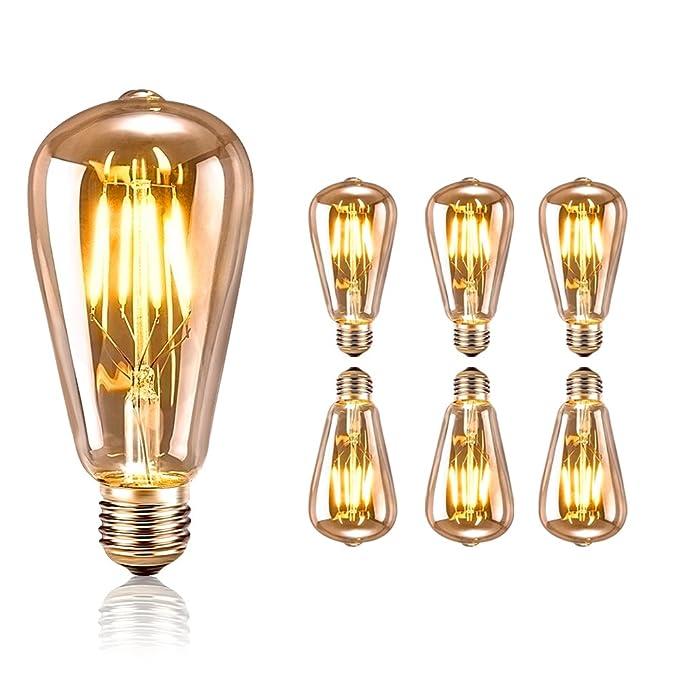 38 opinioni per Tronisky Lampadina Vintage Edison, LED E27 4W Retro Decorativa Lampadine a