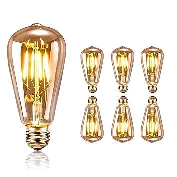 Guoq Retro Deckenlampe Industrie Steampunk Wasserrohr Eisen Edison