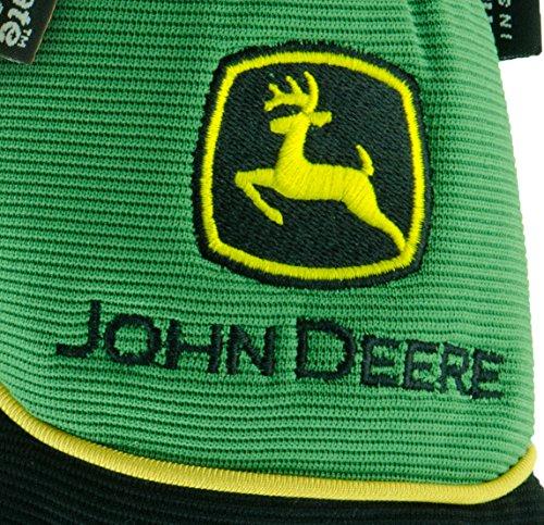 John Deere JD95040 L Thinsulate Gloves with Grain Deerskin, Leather, Large, Yellow Black (1 pair)