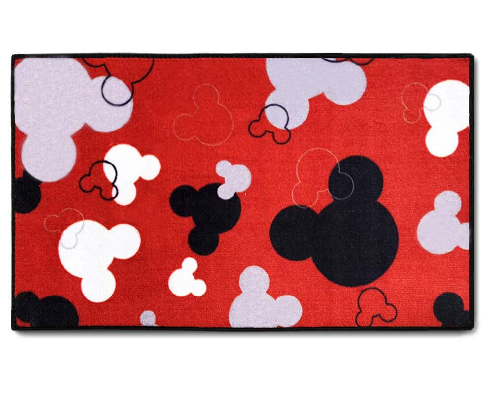 "J.Ehonace Mickey Mouse Rugs - Bathroom Rug, Indoor Outdoor Entrance Rug, Kitchen Rug, 17"" x 30"" (Red)"