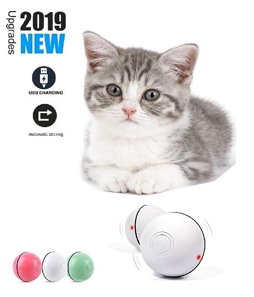 Norubvs Pelotas de Juguete para Gatos, Carga USB Bola Giratoria ...