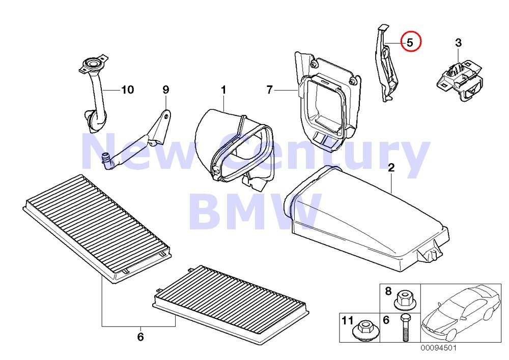 2 X BMW Genuine Microfilter//Housing Parts Holder 745i 750i 760i ALPINA B7 745Li 750Li 760Li