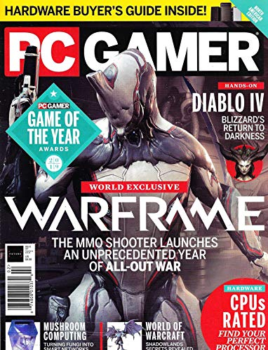 PC GAMER Magazine (February, 2020) Issue 327, WARFRAME, DIABLO IV, MUSHROOM COMPUTING
