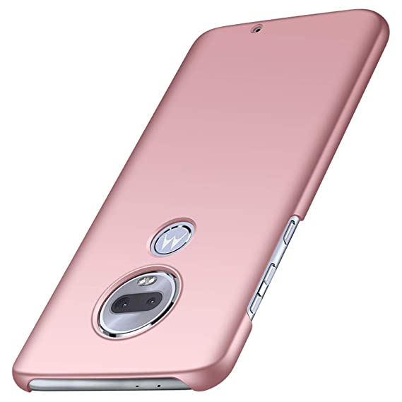 Moto G7 Case,Moto G7 Plus Case, Almiao [Ultra-Thin] Minimalist Slim  Protective Phone Case Back Cover for Moto G7/Moto G7 Plus (Smooth Pink)