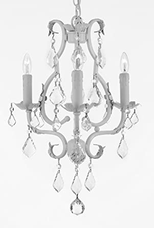 Wrought Iron Mini Chandelier With Empress Crystal (Tm) Chandelier  Chandeliers Lighting 3 Lights 21u0026quot