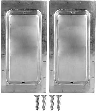 2 manijas para puerta de granero sin agujeros visibles para puertas correderas con tornillos de montaje cuadrados y pequeños: Amazon.es: Bricolaje y herramientas