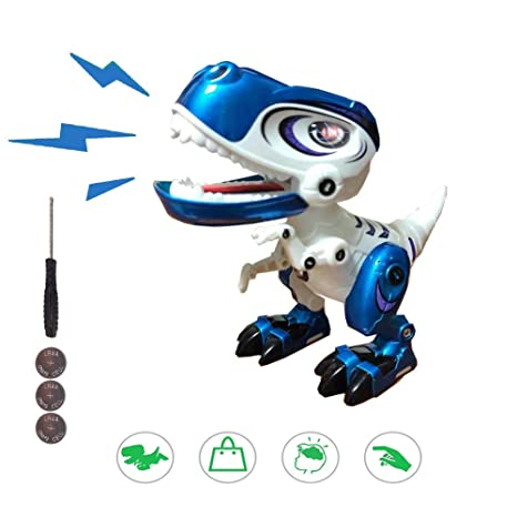 Interactive Dinosaur Toy for Kids, Alloy Dinosaur Electronic Pet Robot  Sound and Light, Dinosaur Fans Collection Theme Birthday Party Boy and Girl