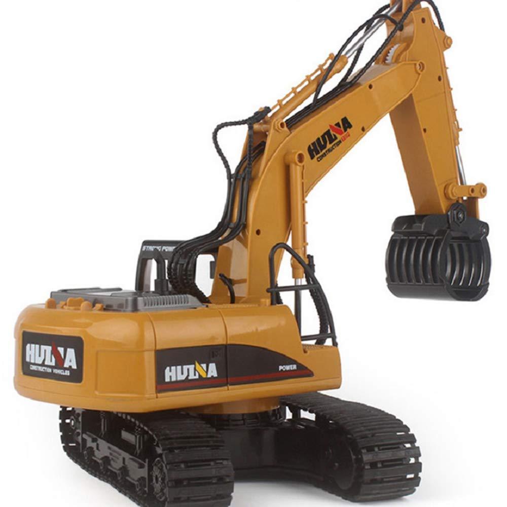RC掘削車2.4G 1:14 RC 16チャンネル金属充電RCカーモデル玩具キャリングマシン自動車デモンストレーションカー B07KW7ZQF4