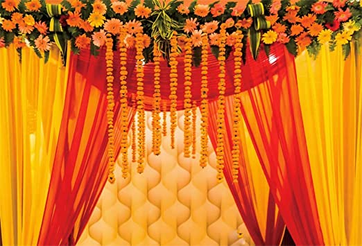 Amazon Com Aofoto 7x5ft Macrame Wedding Backdrop Indian Marriage Decoration Red Curtain Flowers Background Sweetheart Engagement Photography Couples Trip Celebration Photos Atistic Photoshoot Prop Vinyl Camera Photo